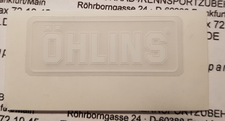 Öhlins sticker  white
