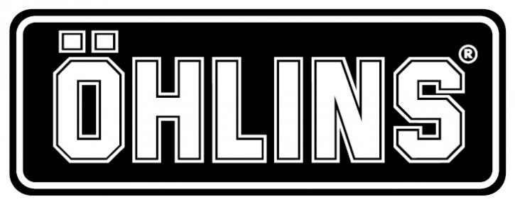 "Öhlins Dome Sticker ""ÖHLINS"" schwarz/weiß"