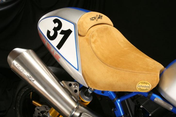 NCR / Schedoni Bike seat new blue
