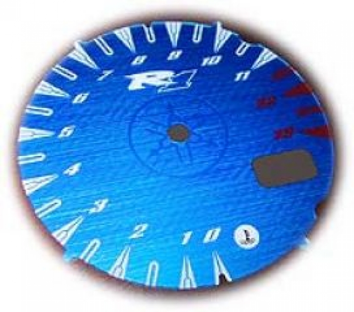 face gauge for YZF R 1 00-01 metalic blue