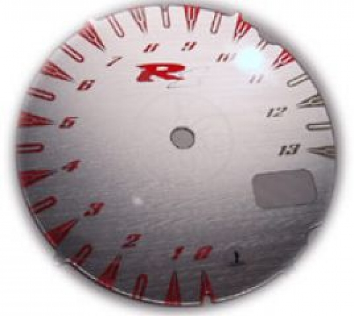 face gauge for YZF R 1 00-01 silver