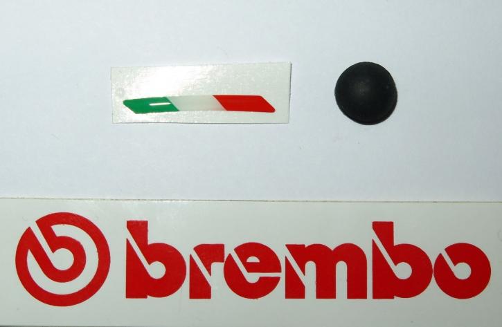 Brembo sticker Italy and rubber cap 19/17 RCS Corsa Corta