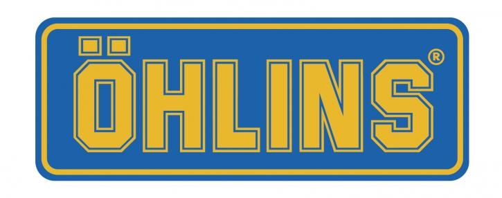"""Öhlins Sticker """"ÖHLINS"""" blau/gelb medium"""
