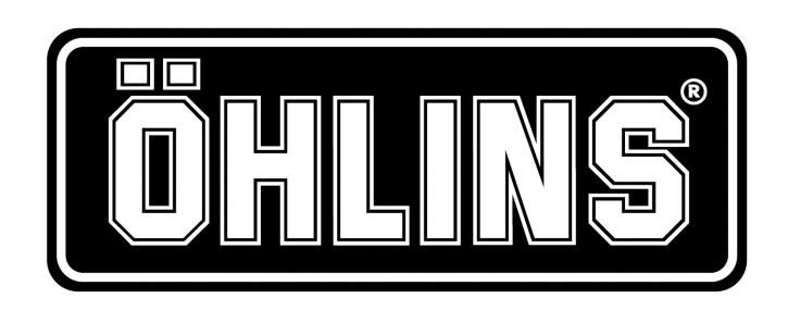 "Öhlins Sticker ""ÖHLINS"" schwarz/weiß medium"