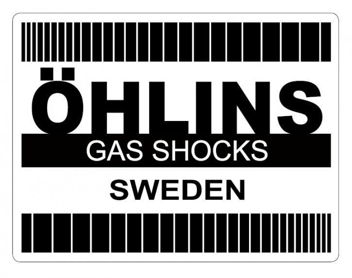 "Öhlins Sticker ""Retro schwarz"""