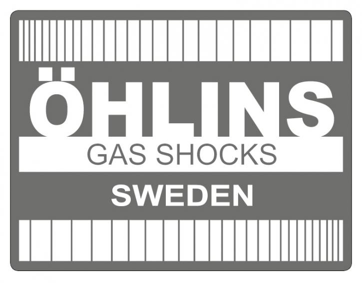 "Öhlins Sticker ""Retro WEISS"""