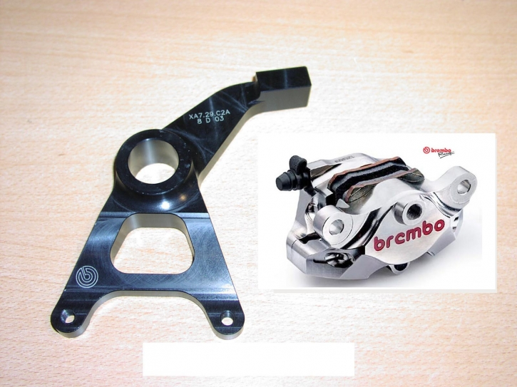 Brembo P2/34 cnc Caliper rear Supersport Nickel finish incl. bracket