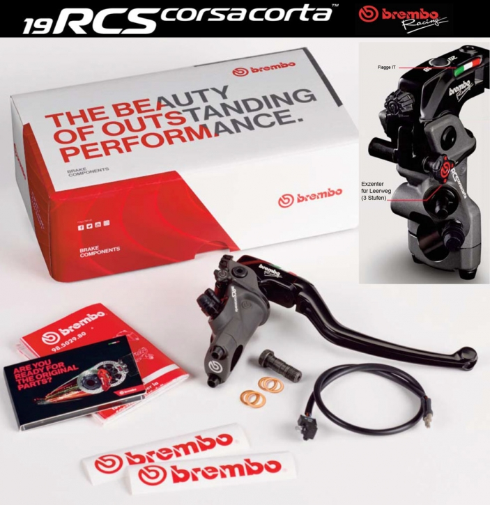 Radial Brake master cylinder 19RCS corsa corta PR19x18-20