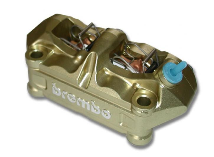 Brembo Radial - Bremszange P4 34/34, gold, 100 mm, rechts