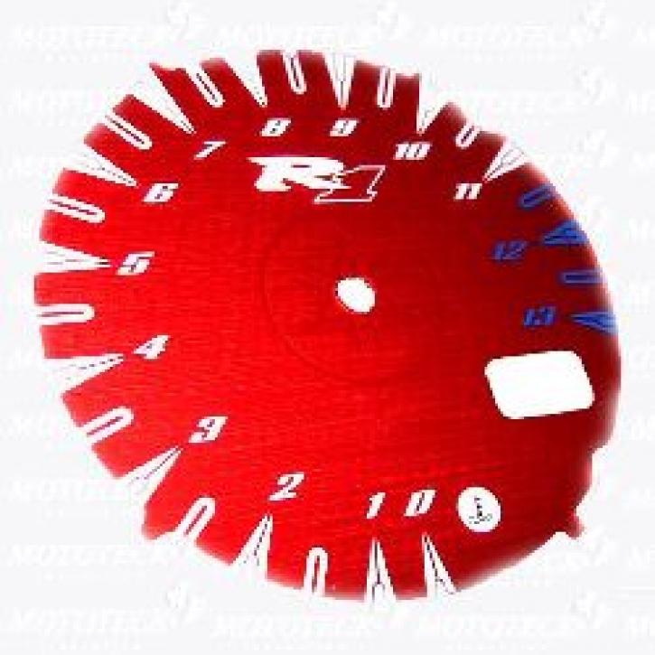Zifferblatt farbig für YZF R 1 00-01 metallic rot