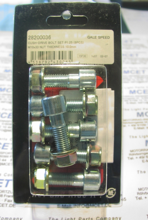Galespeed rear sprocket bolts kit M10x1.25x38