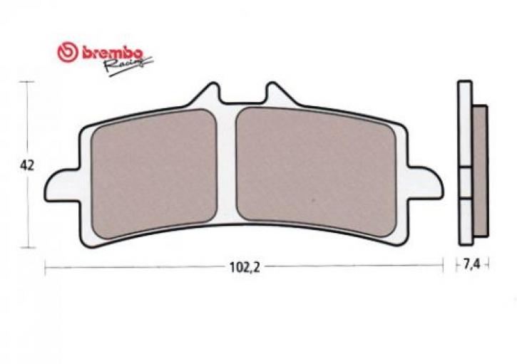 Brembo brake pad Z04 for M4 / M50/ GP4RX / 484