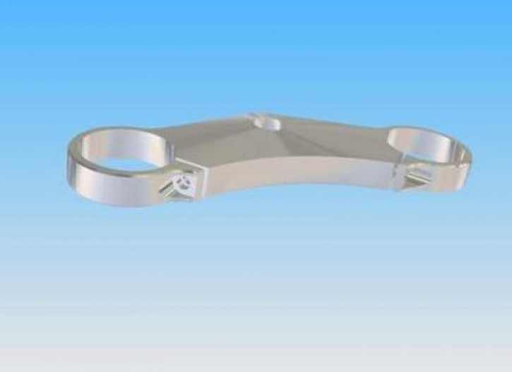 20 mm steering head plate with single clamp for Superbike handle