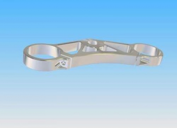 20 mm steering head 'lightweight' plate with single clamp