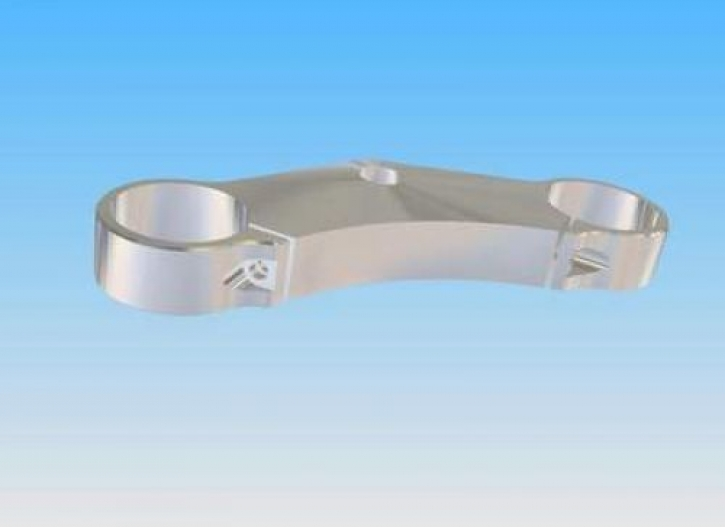 30 mm steering head plate with single clamp for Superbike handle