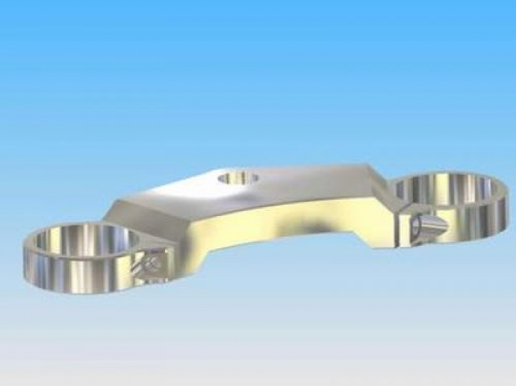 30 mm steering head plate with single clamp with 10 mm crank