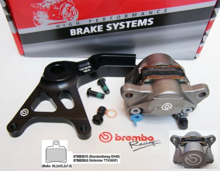 Brembo P2/34 Caliper rear Supersport incl. bracket