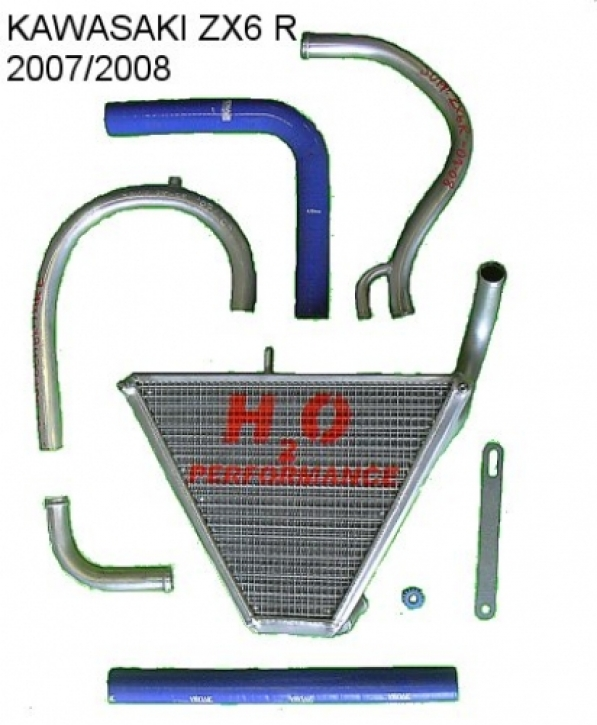 radiator ZX 6 R 07-08 extension