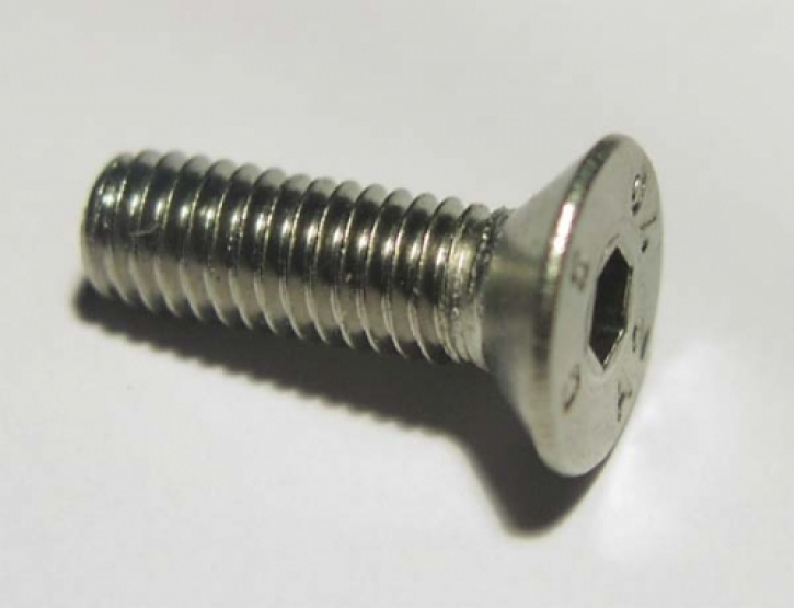 counter sunk bolt M 6 x 16 stainless steel
