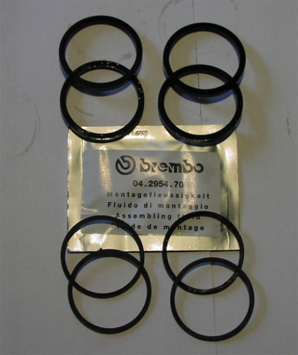 Brembo P4 30/34 spare piston sealing kit for cast/ cnc caliper