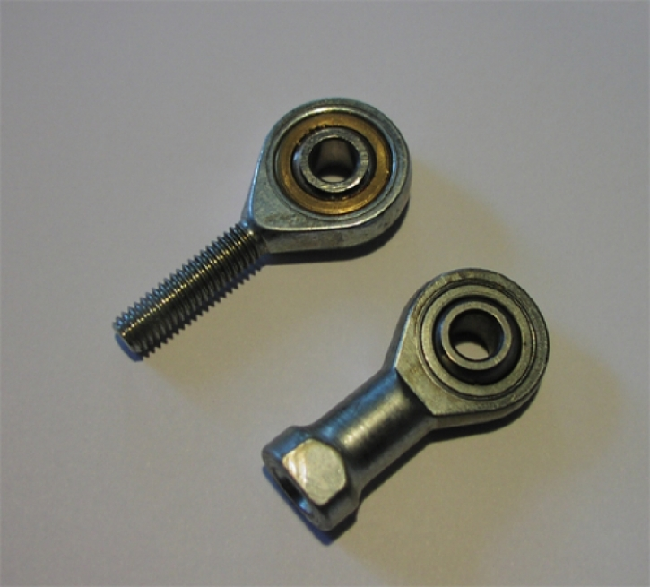 ball joint M 6 steel external thread right