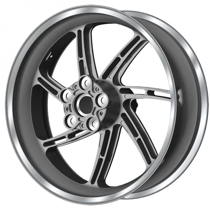 PVM 7 H - spoken wheel set aluminium