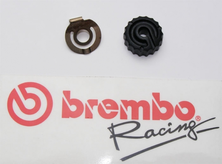 Brembo lever adjustment knob with click spring for 19/16/15 RCS
