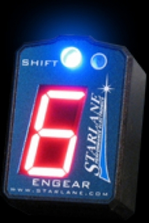 LED gear indicator red