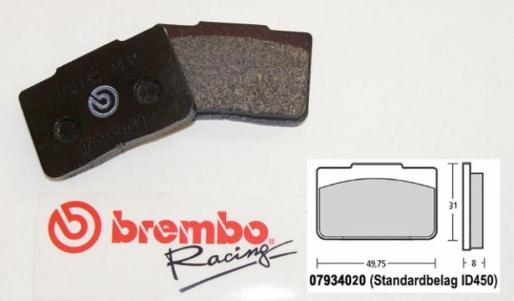 Brembo Bremsbelag für P4 / 24 / 24 mm