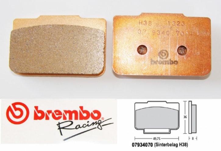 Brembo brake pad for P4 / 24 / 24 mm sintered