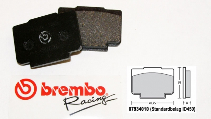 Bremb0 brake pad for P4 / 24 / 30 mm TH. 7,6 mm