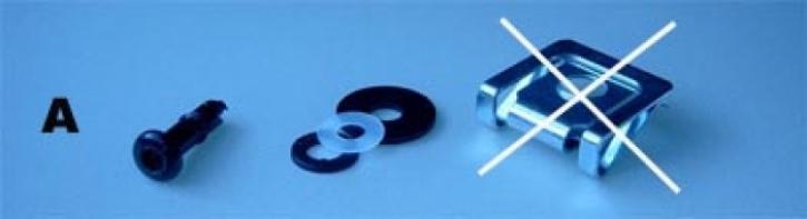 Schnellverschluß Einzelset 4 mm Verschluß
