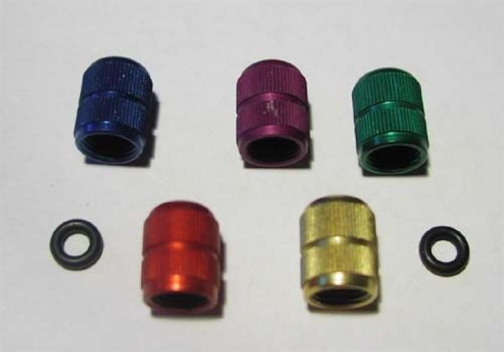 aluminum tire valve caps
