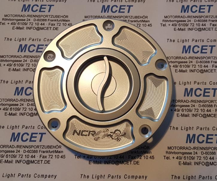 NCR Tankdeckel Aluminium Panigale alle, Diavel, SF, MO 696/796 silber