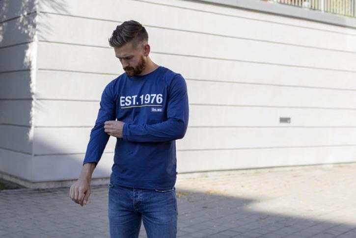 T-shirt Langam Est. 1976 blau
