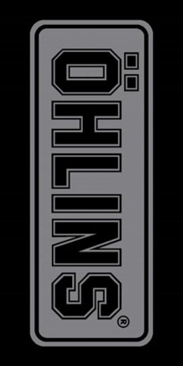 Öhlins Logo Teppich grau/schwarz