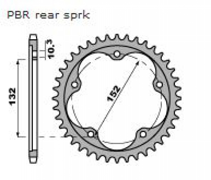 Alu sprocket 525 pitch for MV Agusta