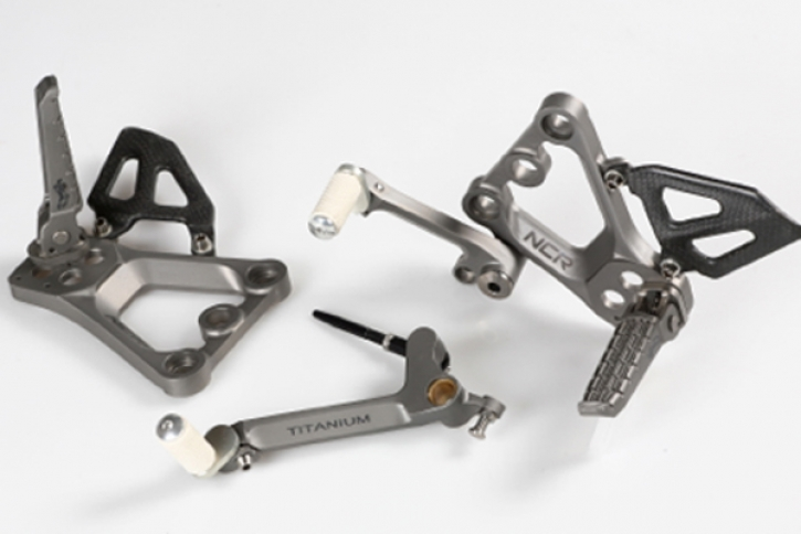 NCR titanium rear set for Ducati 848 - 1198