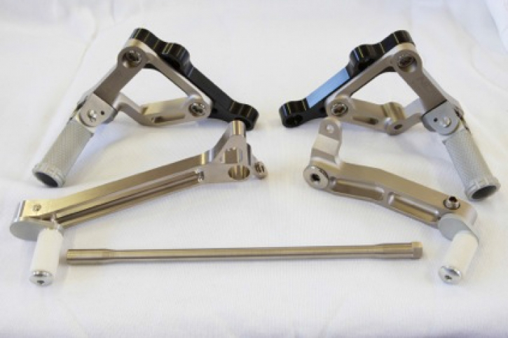 NCR titanium /aluminum rear set for Ducati 848 - 1198