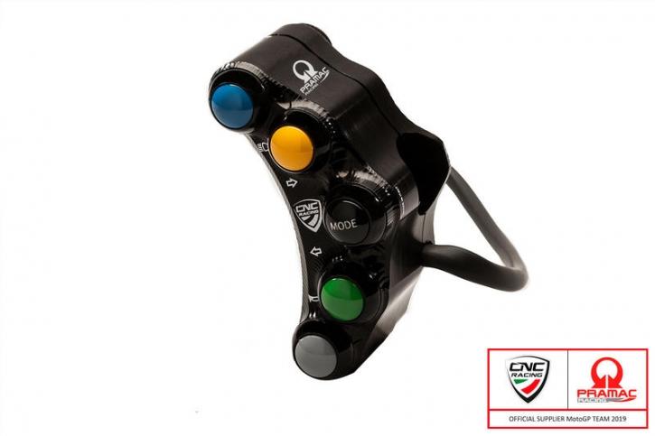 Ducati Panigale V4 left handlebar switch 8x Pramac Racing Lim. Ed - street use