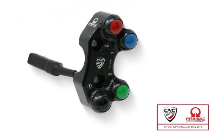 Ducati Panigale V 4 right handlebar switch 4 buttom PRAMAC edit.- Brembo PR CNC/ Schmiede MC