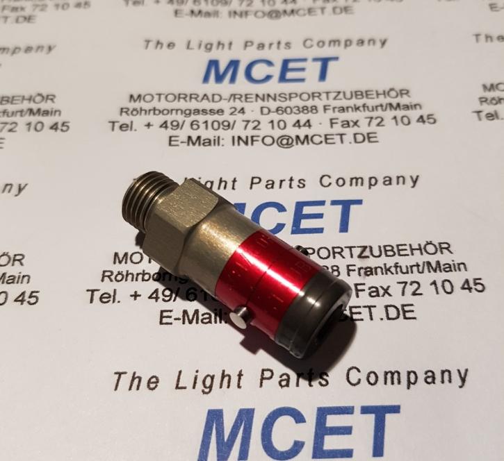 Quick-coupler aluminum male (nippel) M10x1.0
