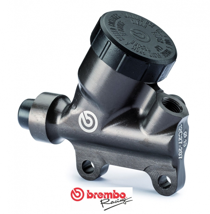 Brembo rear master cylinder PS 13, with integrated round reservoir