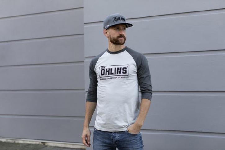 Baseball T-shirt 3/4 Arm grau/ schwarz
