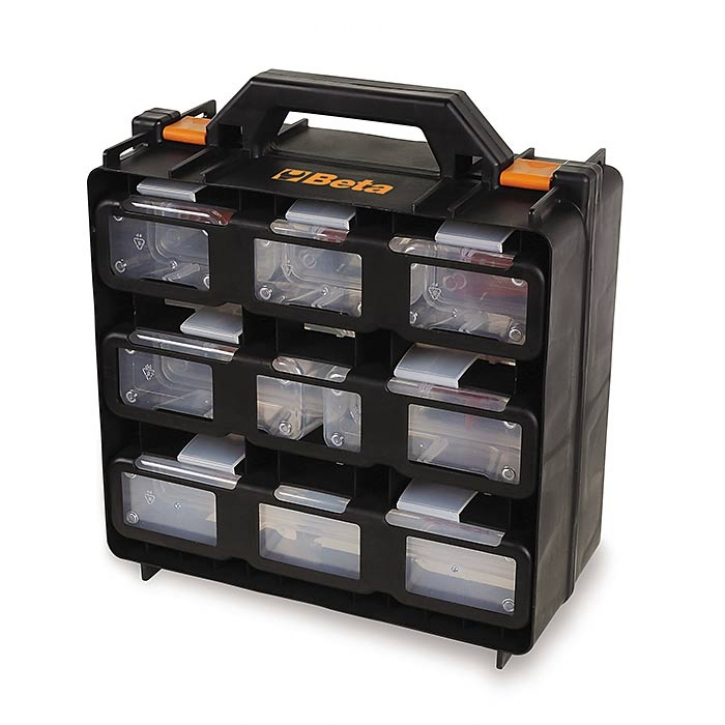 BETA case with clear tote-trays