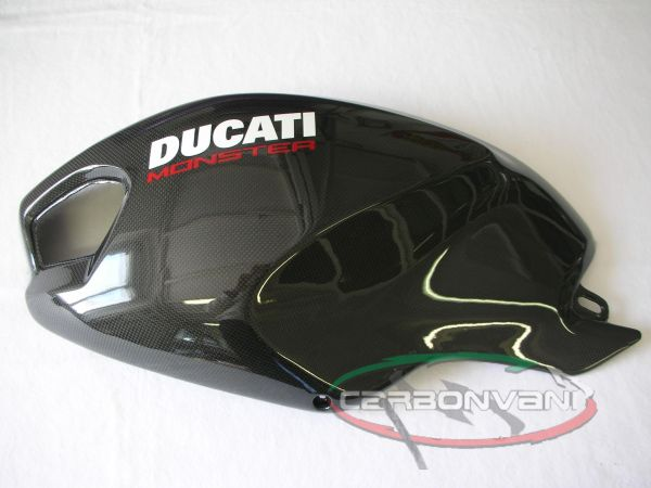 Carbon Tank Cover Lh With Frame And Mesh Dm 01cr