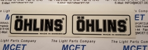 Öhlins sticker black/clear 150 x 31 mm