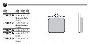 Brembo Bremsbelag für P4 34/34 ABE/TÜV