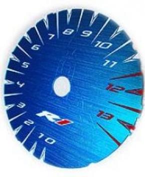 Zifferblatt farbig für YZF R 1 02-03 metallic blau