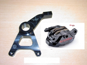 Brembo P2/34 CNC Bremszange hinten schwarz Supersport inkl. Halter